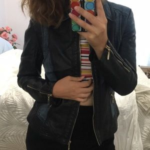 Jean and Leather Combined Jacket